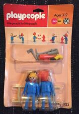 Playpeople Vintage Playmobil Marx Toys Fireman Blister Pack With Card 1753