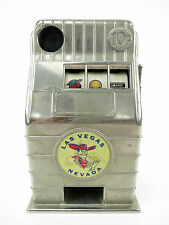 Vintage Las Vegas Slot Machine Metal Coin Bank Jackpot Vegas Nevada Collectible