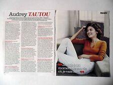 COUPURE DE PRESSE-CLIPPING : Audrey TAUTOU [3pages] 10/2016 Interview,Odyssée