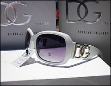 New Womens Ladies Designer Oversized DG Eyewear Cool White Fashion Sunglasses