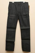 NEW Ralph Lauren RRL DOUBLE RL Denim Selvedge Officer Chino Work Pants 33 x 34