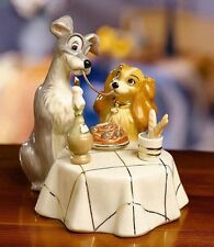 LENOX Spaghetti Dinner LADY and the TRAMP sculpture NEW in BOX with COA Disney