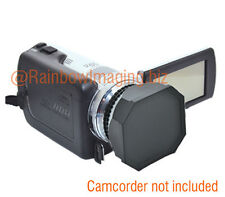 JJC 37mm Lens Hood + Cap for Digital Video DV Camcorder Canon Panasonic Sony