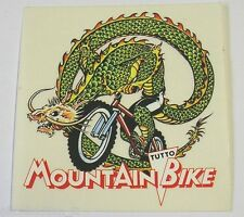 VECCHIO ADESIVO CICLISMO / Old Sticker Bike MOUNTAIN BIKE SERPENTE (cm 10x10)