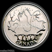 2002P CANADA DAY 25-CENT UNCIRCULATED FROM ROLL