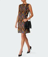NWT $695 M MISSONI Zig Zag Tribal-Print  Silk Dress Sz 42, US6