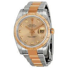 Rolex Oyster  Pink Dial Stainless Steel 18K Everose Gold 116231PDO