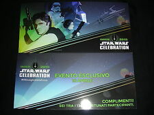 Star Wars Celebration /cards invite Rome 21 x 10 cm/Anaheim 2015 NEW NUOVO OVP