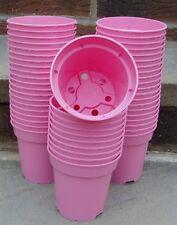"""PK (50) 9cm - 3.1/2"""" Heavy Duty rosa impianto vasi di fiori 9f"""