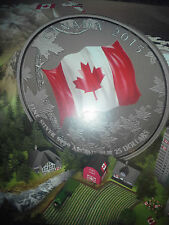 $25 Fine Silver 2015 Canadian Coin – 50th Anniversary of the Canadian Flag - NEW
