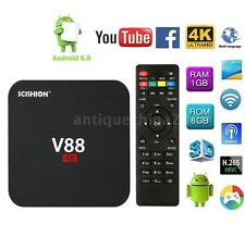 V88 RK3229 4K  Smart Android 6.0 TV Box 8GB Quad Core 16.1 H.265 Media Player
