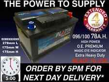 VAUXHALL VECTRA 1.9 CDTI 1.7 2.0 DIESEL CAR BATTERY 096 100 12V HEAVYDUTY SEALED