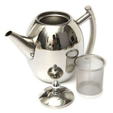 Stainless Steel Teapot Tea Pot With Infuser Coffee Tea Leaf Filter Herbal 1000ML