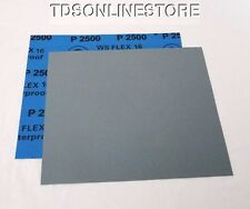 "2500 Grit  Wet / Dry Sand Paper  9""x11"" Sheets Package  Of 10"