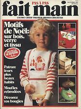 FAIT MAIN PAS A PAS NOEL 1982 COUDRE TRICOT BRODERIE CROCHET PATRON