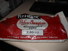 NOS New Firestone Motorcycle Deluxe Champion Inner Tube 2.50 x 17
