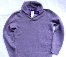 Ralph Lauren Purple Label 85% Cashmere-mohair shawl Sweater talla L Violet