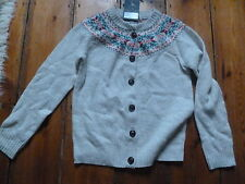 BNWT JACK WILLS GREY  FAIR ISLE CARDIGAN SIZE 8