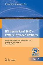 HCI International 2013 - Posters' Extended Abstracts : International...