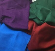 RAW SILK NOIL Jewel Tones Silk Fabric Sample Set Remnants Lot