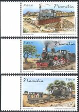 Namibia 2006 OMEG Railway Line/Trains/Steam Engines/Transport 3v set (n16362)