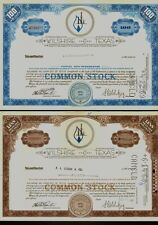 Set of 2 diff. Wilshire Oil Company Of Texas Houston old stock certificates