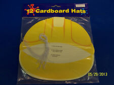 Construction Worker Yellow Hard Hat Birthday Party Favor Visors Cardboard Hats *