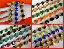 LOT 15 MURANO GLASS BRACELETS PERU (7 ROUNDED) Colorful Peru Handmade