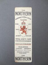 BOOKMARK Vintage Northern Assurance Company 1918 Assets Insurance Fire Life OLD