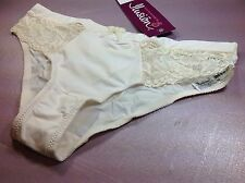 Women Panties,Briefs Bikinis ILUSION XL Beige Shiny Soft W/Floral Fishnet Decora