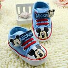 Baby Boys Mickey Mouse Baby Blue Disney Casual Shoe.. Pre Walker Shoe