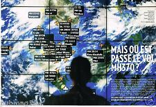 Coupure de Presse Clipping 2014 (8 Pages) Crash Boeing 777  Vol MH370 Malaysia