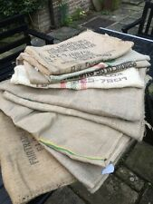 Job Lot Coffee Bean Sacks Mixed Set x5 Jute Hessian Upholstery Chair Bench Cafe