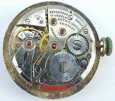 Vintage Gothic Watch Co. Wristwatch Movement - 17 Jewels - Parts / Repair