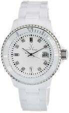 ToyWatch PCLS02WH Plasteramic White Band Date Women's Watch $265 ~ GREAT GIFT