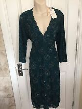 KALIKO STUNNING BEAD EMBELLISHED LACY DRESS IS SZ 18 BNWT