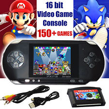 16 bit Handheld Console Portable Video Game 150 Games Retro Megadrive PXP New UK
