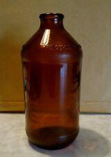Vintage Short Neck Amber Brown Glass Beer Bottle No Deposit No Return Empty
