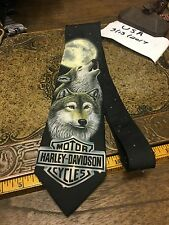 HARLEY DAVIDSON LONE WOLF MOTORCYCLE DRESS SUIT NECKTIE TIE FREE SHIPPING