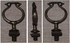 Lyra-förmige Bronzen-Plastik mit Gewinde verm. Stammtisch-Aufsteller-Spitze