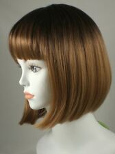 Light Brown Short Straight Bob Style China Doll Wig