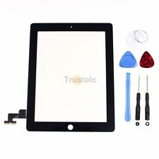 New Black Touch Screen Glass Digitizer Replacement + Adhesive for iPad 2 + Tools