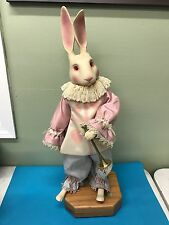 WENDY BRENT LOVE AND ROSES DOLLS MUSICAL EDELWEISS LIMITED EDITION WHITE RABBIT