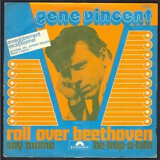 GENE VINCENT ROLL OVER BEETHOVEN RARE 45T SP POLYDOR 2098.117