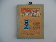 WORLD'S GREATEST DAD AWARD~PLAQUE~SIGN~VINTAGE AMERICAN GREETINGS FATHER'S DAY