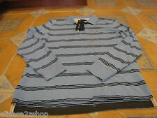 Mens Tommy Hilfiger workwear blue long sleeve polo shirt small S slim fit $69.50