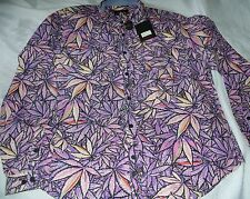 Mnwka weed Camo marijuana Button Down Shirt Sz XL Purple Kush New hash bash M L