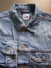 Tommy Hilfiger Denim Trucker Jacket Men's Large Blue Vintage LJKTa002
