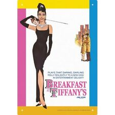 BREAKFAST AT TIFFANYS - AUDREY HEPBURN - MOVIE TIN SIGN - 29 x 21 CM 10.5 x 7""