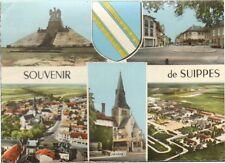 51 SUIPPES CARTE POSTALE SOUVENIR VUES DIVERSES FRANCHISE MILITAIRE 1969